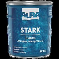 Эмаль алкидная универсальная Aura Stark цвет Черная матовая № 91 0.9 кг