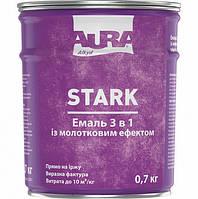 Эмаль 3 в 1 с молотковым эффектом Aura Stark цвет Серебристый № 20 2.2 кг