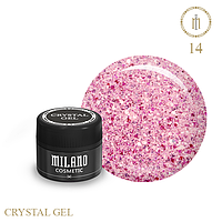 Гель для дизайна Crystal Glitter Gel Milano №14 6 мл