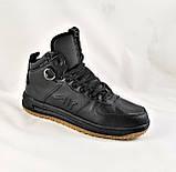 Кроссовки AIR Мужские ЗИМА - МЕХ Чёрные Ботинки (размеры: 42,45) Видео Обзор, фото 4