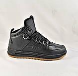 Кроссовки AIR Мужские ЗИМА - МЕХ Чёрные Ботинки (размеры: 42,45) Видео Обзор, фото 5