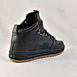 Кроссовки AIR Мужские ЗИМА - МЕХ Чёрные Ботинки (размеры: 42,45) Видео Обзор, фото 6