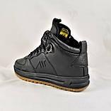 Кроссовки AIR Мужские ЗИМА - МЕХ Чёрные Ботинки (размеры: 42,45) Видео Обзор, фото 8