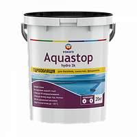 Еластична двокомпонентна гідроізоляція для басейнів, ємностей, фундаментів Aquastop Hydro 2К 20 кг