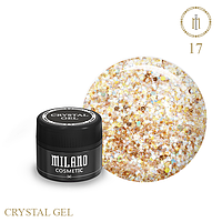 Гель для дизайна Crystal Glitter Gel Milano №17 6 мл