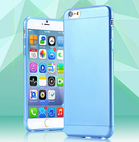 Голубой пластиковый чехол 0,15 мм для Iphone 6 6S, фото 1