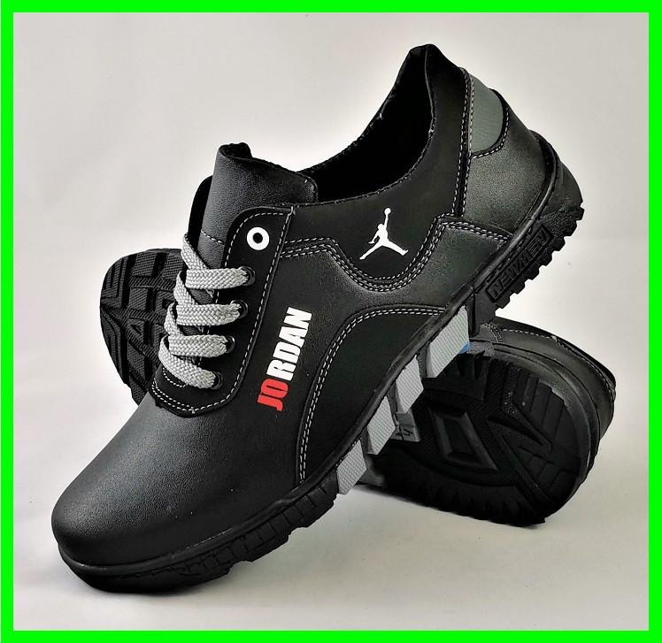 Кроссовки JORDAN Мужские Чёрные Кожаные Мокасины (размеры: 41,42,43,44) Видео Обзор