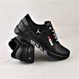 Кроссовки JORDAN Мужские Чёрные Кожаные Мокасины (размеры: 41,42,43,44) Видео Обзор, фото 5