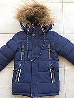 Куртка зимняя на мальчика 3-5 лет темно-синий, фото 1