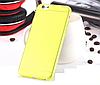 Желтый пластиковый чехол 0,15 мм для Iphone 6 6S