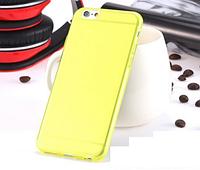 Желтый пластиковый чехол 0,15 мм для Iphone 6 6S, фото 1