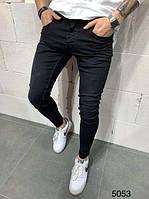 Черные мужские узкие джинсы