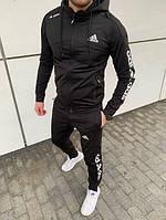 Весенний модный мужской спортивный костюм Adidas, три цвета