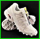 Кроссовки Salomon Speedcross 3 Белые Мужские Саломон (размеры: 41,42,43,44,45) Видео Обзор, фото 2