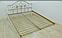 Металлическая кровать Жозефина на деревянных ножках. ТМ Металл-Дизайн, фото 5