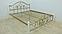 Металлическая кровать Жозефина на деревянных ножках. ТМ Металл-Дизайн, фото 4