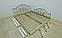 Металлическая кровать Жозефина на деревянных ножках. ТМ Металл-Дизайн, фото 7