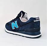 Мужские Кроссовки New Balance 574 Синие (размеры: 44) Видео Обзор, фото 4