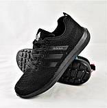 Кроссовки Adidas Fast Marathon Сеточка Чёрные Мужские Адидас (размеры: 42,43), фото 2