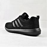Кроссовки Adidas Fast Marathon Сеточка Чёрные Мужские Адидас (размеры: 42,43), фото 4