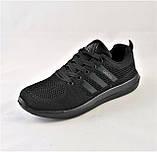 Кроссовки Adidas Fast Marathon Сеточка Чёрные Мужские Адидас (размеры: 42,43), фото 6