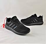 Кроссовки Adidas Fast Marathon Сеточка Чёрные Мужские Адидас (размеры: 42,43), фото 9