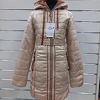 Демисезонное пальто на девочку BLACK& RED
