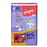 Подгузники Happy Maxi Plus (4+) від 9-20 кг 62шт.