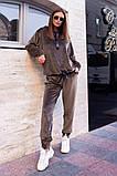 Велюровый спортивный костюм батник и штаны размер: 42-46, фото 3