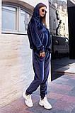 Велюровый спортивный костюм батник и штаны размер: 42-46, фото 5