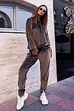 Велюровый спортивный костюм батник и штаны размер: 42-46, фото 7