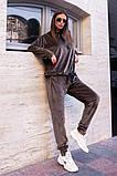 Велюровый спортивный костюм батник и штаны размер: 42-46, фото 9