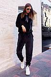 Велюровый спортивный костюм батник и штаны размер: 42-46, фото 6