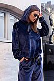 Велюровый спортивный костюм батник и штаны размер: 42-46, фото 8