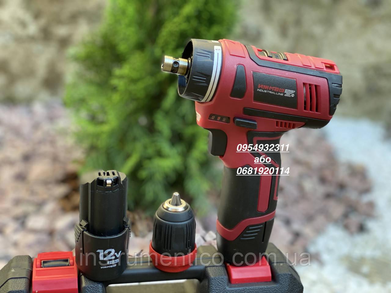 Шуруповерт аккумуляторный Ижмаш Industrialline ICD-12DFR