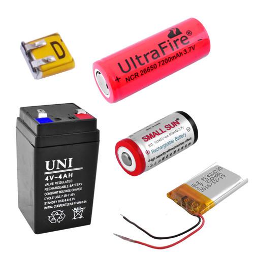 Аккумуляторы к различным приборам и зарядные устройства