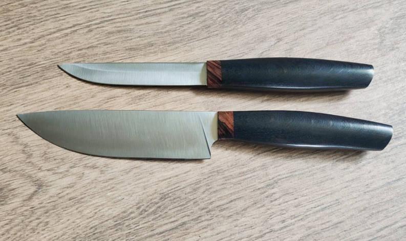 """Набор кухонных ножей ручной работы """"Двойка"""", М390, фото 2"""