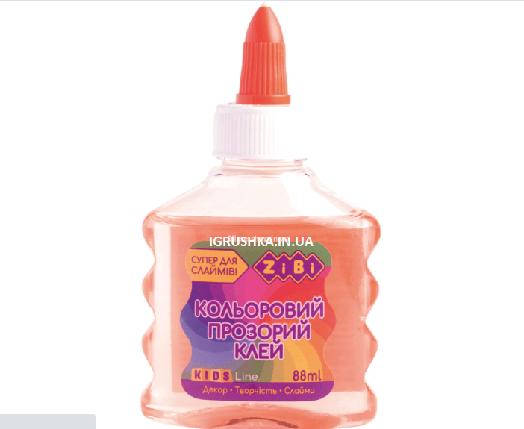 Клей для слайма Zibi прозрачный оранжевый, фото 2