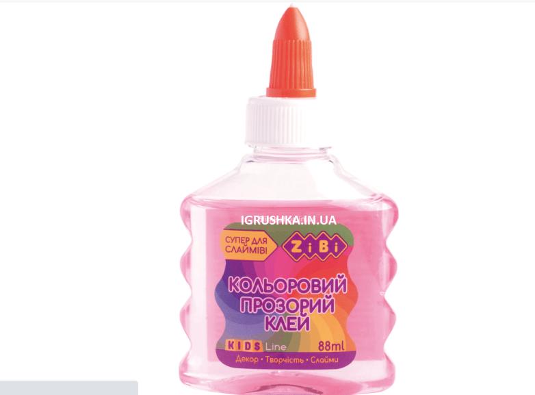 Клей для слайма Zibi прозрачный розовый