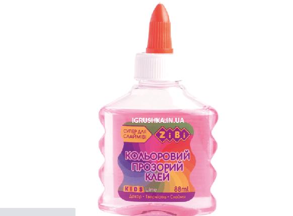 Клей для слайма Zibi прозрачный розовый, фото 2