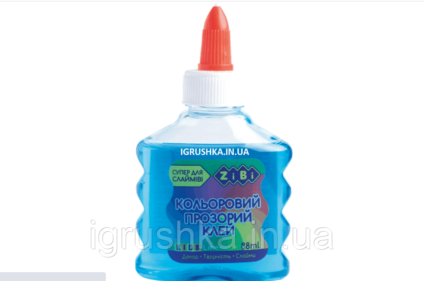 Клей для слайма Zibi прозрачный синий
