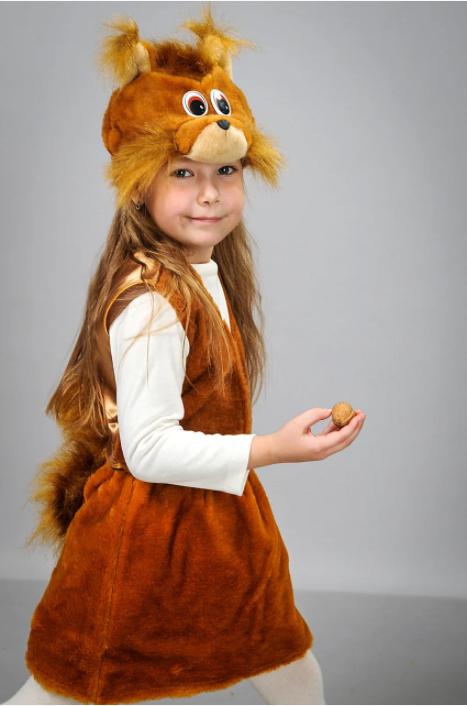 Новорічний костюм Білка для дівчинки