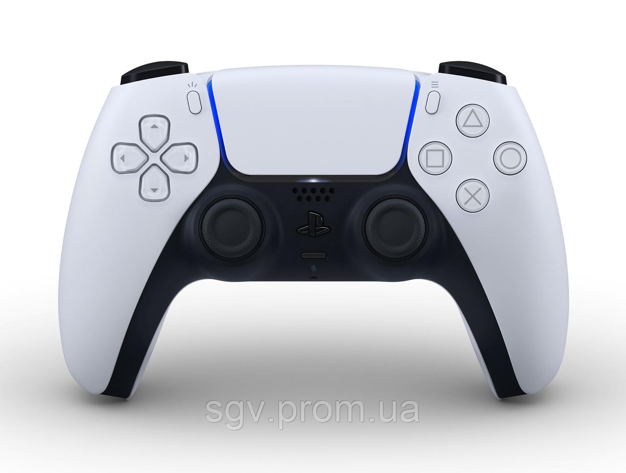 Геймпад DualSense PS5 White Black (Беспроводной геймпад для PlayStation 5)