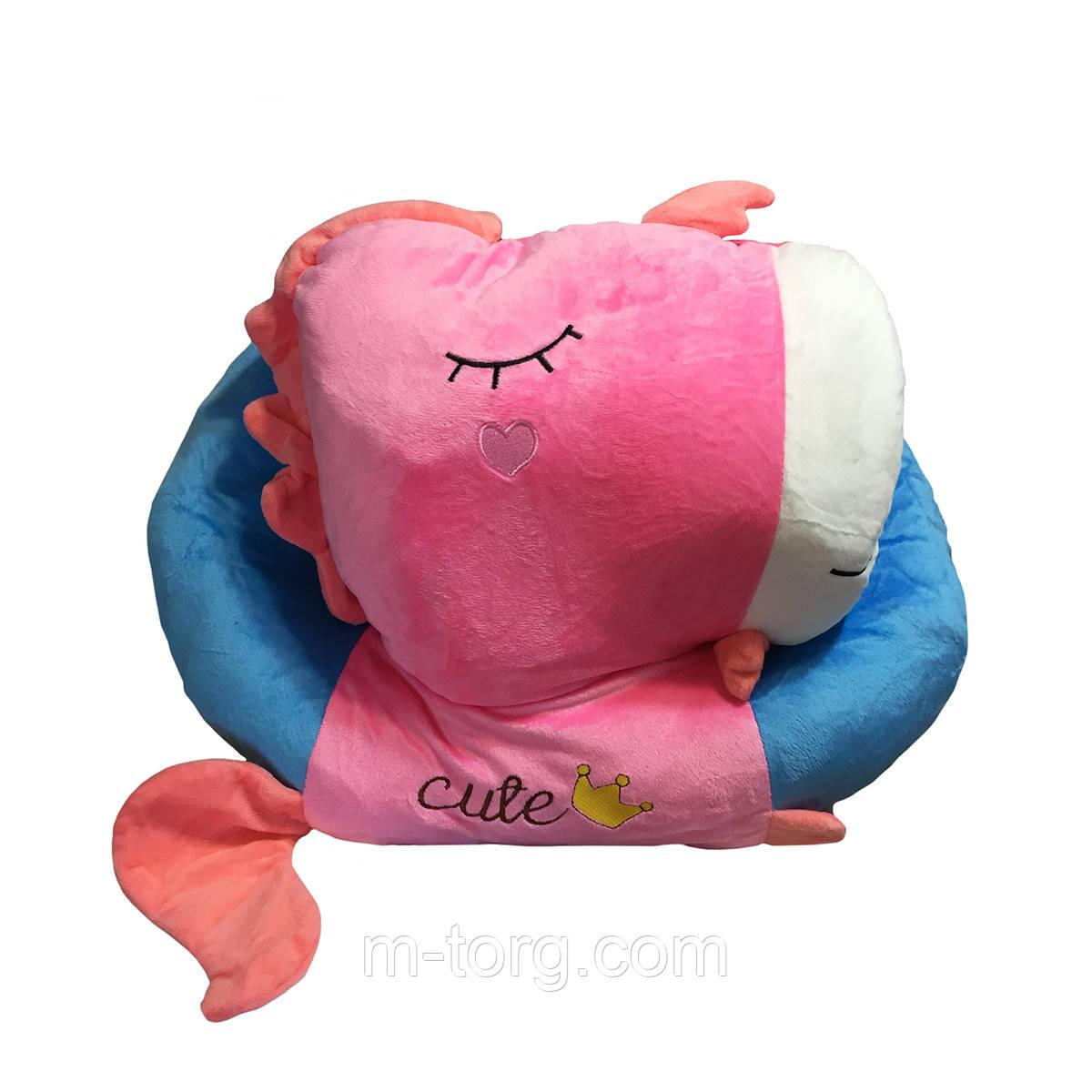 """""""единорог"""" игрушка-подушка + плед 120*120 см ткань микрофибра"""