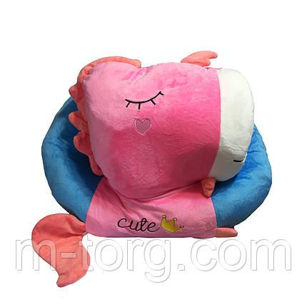 """""""единорог"""" игрушка-подушка + плед 120*120 см ткань микрофибра, фото 2"""