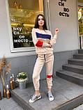 Женский спортивный костюм с укороченными штанами на манжетах и свободной кофтой (р. 42-44) 78051088, фото 7
