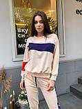 Женский спортивный костюм с укороченными штанами на манжетах и свободной кофтой (р. 42-44) 78051088, фото 5