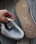 Мужские кроссовки Nike Air Force 1 Mid X Reigning Champ (серые/черный значек) KS 1540, фото 2