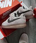 Мужские кроссовки Nike Air Force 1 Mid X Reigning Champ (серые/черный значек) KS 1540, фото 3
