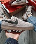 Мужские кроссовки Nike Air Force 1 Mid X Reigning Champ (серые/черный значек) KS 1540, фото 4